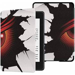 ZANSENG All-new Kindle Paperwhite Water-safe Fabric Cover(10th Generation, 2018 Release), Demonic Red Eye Looks You Wall Tablet Case
