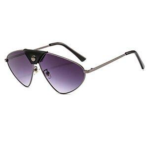YJLC Pilot Sunglasses Men Oversized Cat Eye Vintage Glasses Women Mirror Lens Driving Uv400,gun gray