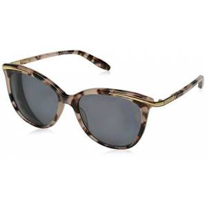 Ralph Lauren Purple Label Women's 0RA5203 146313 Sunglasses, Pink Tortoise/Darkbrowngradient, 54
