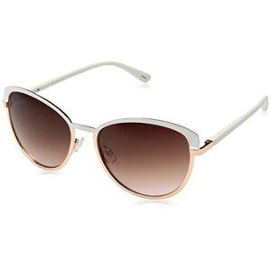 Jessica Simpson Women'S J5316 Whrg Non-Polarized Iridium Cateye Sunglasses, White, 65 Mm