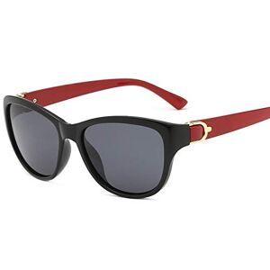 LTUOR Women Sunglasses Polarized Cat Eye Lady Elegant Sunglasses Female Driving Eyewear Red Legs Gray Lens