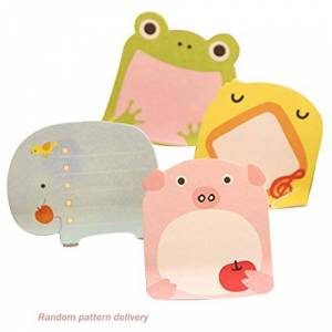 002fr Cartoon Animal Sticky Post Cute Small Fresh Note Sticker Notepad Small Gift Multicolor