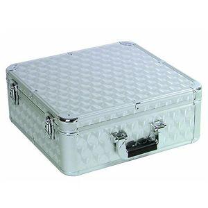 Roadinger 30122053Polished Aluminium Case for 100CD