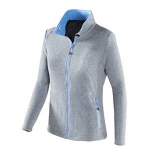 Black Crevice Women's Fleece Jacket Silver silver Size:14