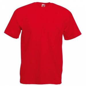 Fruit of the Loom Men's Short-Sleeved T-Shirt - Red - Small