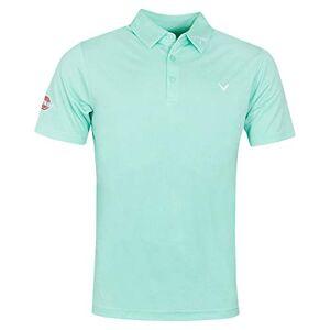 Callaway Apparel Callaway Golf Mens Odyssey Birdseye Polo Shirt - Light Green Heather - L