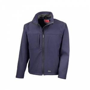 Result Mens Classic Softshell Breathable Jacket (L) (Navy Blue)