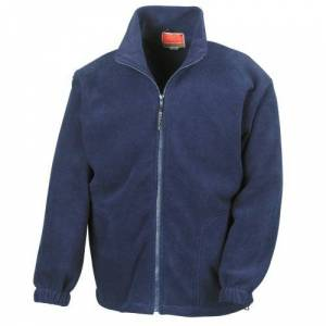 Result Mens Full Zip Active Fleece Anti Pilling Jacket (XS) (Navy Blue)