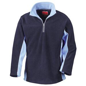 Result Mens Tech3 Sport Anti Pilling Windproof Breathable Fleece (L) (Navy/Sky)