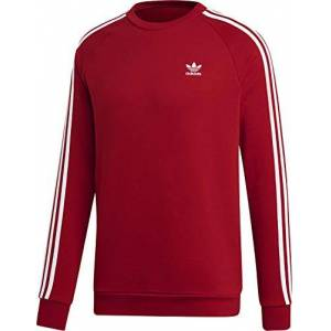 adidas Men's 3-stripes Crewneck Sweatshirt, Red (Power Rosso), XL