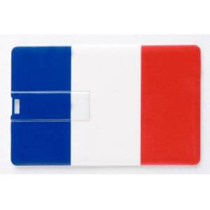 Ricco 8GB 04-001 CARD FRANCE France Novelty Flags USB 2.0 High Speed Flash Memory/Pen Drive Disk Stick