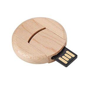 sjlerst USB Flash Drive,Portable Maple Rotating 16G Mini USB 2.0 Interface U Disk Flash Drive Memory Stick U Disk,Beautiful and Exquisite
