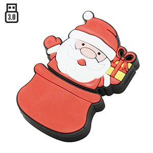 OneSquareCore 32GB Santa Claus Model USB 3.0 Flash Drive Flash Drive 3.0 Thumb Drive USB Jump Drive Memory Stick Zip Drive USB Drive U Disk - Red
