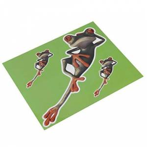 Anam Safdar Butt 3D Cartoon Frog Funny Frog Personalized Removable Decal Car Home Stickers