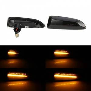 NO LOGO LM-DTZXXH, 2pcs Led Dynamic Side Marker Light Sequential Turn Signal Light Blinker For Vauxhall For Opel Astra J K Insignia B Zafira C Crossland (Color : 1)