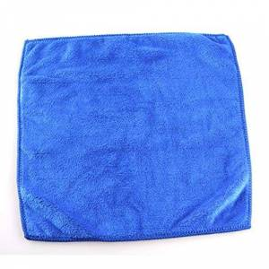 Dengc Car Wash Microfiber Towel Automobile Cleaning Quick Drying Cloth Car Care Hemming Water Absorption Cloth Wash Towel,Dark Blue,25 * 28CM