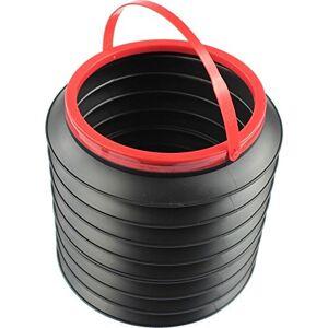 Dasing 22cm x 18cm Black Multifunctional Magic Car Container Barrel Trash Bin Foldable Storage Bucket