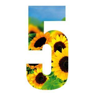 MONOGRAM Classic Signs Wheelie Bin Number Sunflower 5