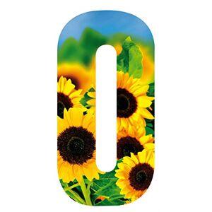MONOGRAM Classic Signs Wheelie Bin Number Sunflower 0