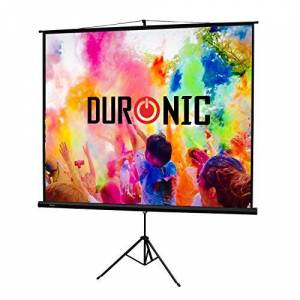 """Duronic Projector Screen TPS86/43 (Black) Projection Screen For School Theatre Cinema Home Tripod Projector Screen - 86""""- 4:3 Screen (Screen: 175cm (W) X 131cm (H) 4K / 8K Ultra HDR 3D Ready"""