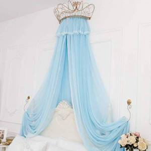 Bove Bed Curtain Bed Canopy,Round Dome Princess Bed Canopy Bed Drapes Decorations Elegant Adults Kids Rooms Lace Filato Di Cotone Bedroom Dcor-H-2.0m