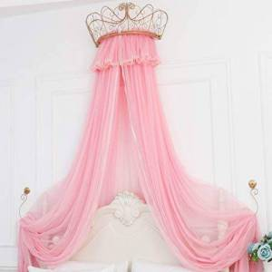Bove Bed Curtain Bed Canopy,Round Dome Princess Bed Canopy Bed Drapes Decorations Elegant Adults Kids Rooms Lace Filato Di Cotone Bedroom Dcor-E-2.0m