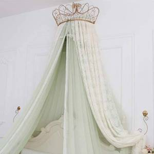 Bove Bed Curtain Bed Canopy,Round Dome Princess Bed Canopy Bed Drapes Decorations Elegant Adults Kids Rooms Lace Filato Di Cotone Bedroom Dcor-D-1.8m