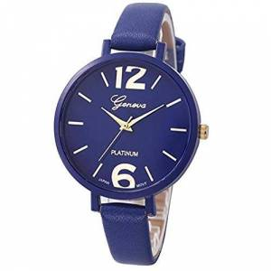 Itvip Orologio ITVIP Geneva Fashion Fine Belt Women's Watch Simple Digital Scale Quartz Watch Strap 180mm Blu Profondo