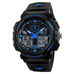 Hung Kai Wrist Watches Fashion Accessories, Outdoor Men Stopwatch Waterproof Alarm Date Sports Analog Digital Wrist Watch