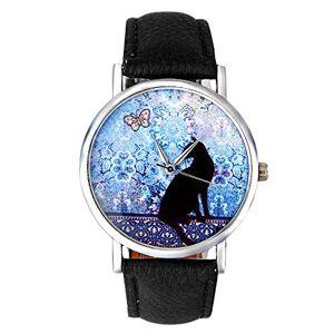 Itvip Orologio ITVIP Lovely Little Cool Kitten Women's Watch Model Belt Watch Student Lovers Quartz Watch Strap 230mm Black