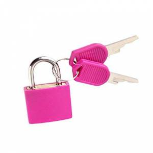 Xshuai 22MM Colorful Small Mini Strong Steel Padlock Travel Suitcase Diary Lock with 2 Keys Waterproof (Hot Pink)