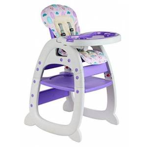 GALACTICA New 3in1 Baby High Chair Compact Infant Feeding Seat Also Chair & Table for Toddler High Seat for Infant Baby Food Tray Purple