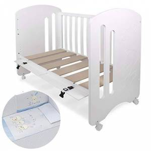 Interbaby Co-Sleeping Cot Lovely with Textile Password Blue