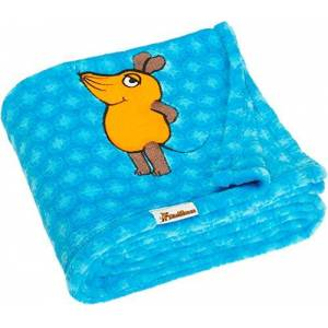 Playshoes Baby Soft Fleece Mouse Blankets, Blue, 75 x 100 cm / 29.5 x 39.4 Inch