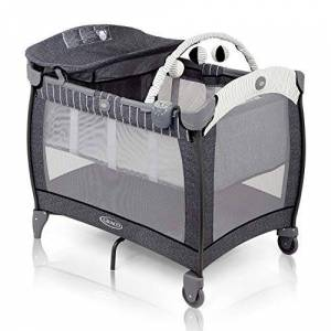 Graco Contour Electra Travel Cot with Integrated Changing Table, Music and Vibration, Suits Me