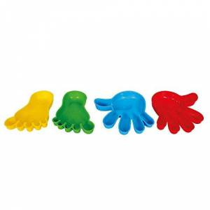 Polesie 37268 Sand Forms Set: 2 Hands with 2 Feet-Summer Toys, Multi Colour