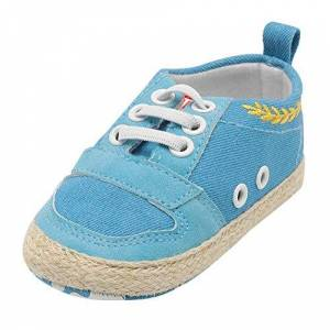 Yourgod Shoes Yourgod Autumn Winter Booties For Infant Baby Boys Kids Straps Crib Sole Anti Slip First Walker Warm Fashion Sneakers Daily Casual Non Slip Shoes Light Blue