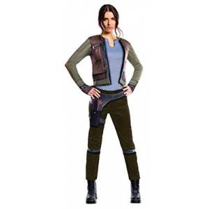 Star Wars Rogue One Costume, Womens Deluxe Jyn Erso Star Wars Outfit-Green-Medium UK 12 - 14