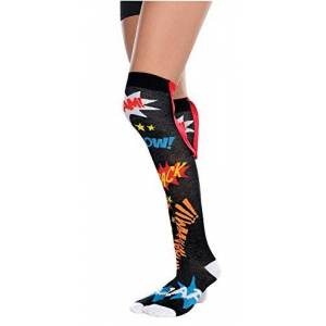 amscan 394357-55 Super Hero Adult Knee Socks Costume, 2 Pcs