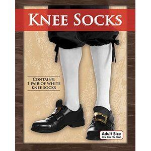Bristol Novelty BA019 Adult Knee Socks, White, One Size
