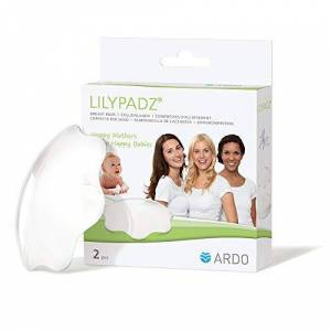 ARDO LilyPadz Reusable BPA Free Silicone Breast Pads - Self Adhering and Breathable