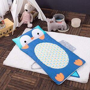 Caiyixiong Sacco A Pelo Per Beb in Cotone 100% Anti Kick Kick by Blue Kindergarten Nap by Cotton Cartoon Penguin Sacco A Pelo Per Bambini Coperta Multifunzionale Swaddle