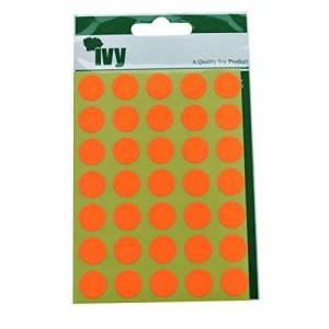 Ivy Orange Dots Adhesive Labels 13mm 232200 by Ivy