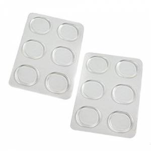 Wish List For You Clear Gel Feet Cushion Insoles For Women And Men Pack Of 6 Single Cushion Pads