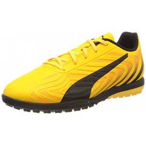 Puma Kids' One 20.4 Tt Jr Football Boots, Yellow (Ultra Yellow Black-Orange Alert 01), 13 Uk Child 32 Eu