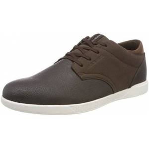 Jack & Jones Men'S Jfwjamie Pu Combo Low-Top Sneakers, Brown (Java Java), 7 Uk