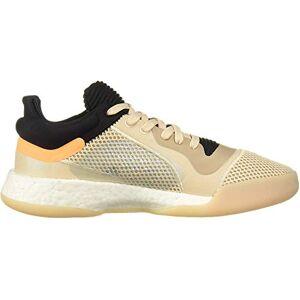 Adidas Men'S Marquee Boost Low Basketball Shoe, Linen/black/flash Orange, 12 Uk