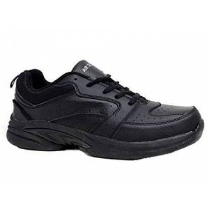 Air Tech Mens Riddell Air Tech Running Gym Leather Walking Sport Fashion Trainers Shoe Size 7-12 (Uk 10, Lace Up:Black )