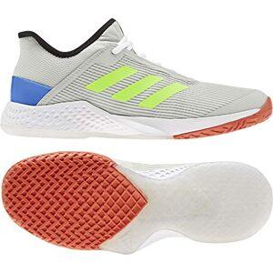 Adidas Men'S Adizero Club Tennis Shoes, Orbit Grey/signal Green/glory Blue, 12 Uk