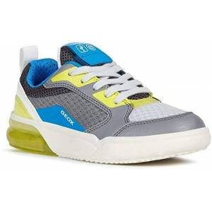 Geox Boy Lace-Up Flats J Grayjay Boy, Kids Casual Lace-Up,Trainer,Sneaker, Low Shoes,Lace-Up Shoe,Street Shoe,Sporty,Casual,Grey/lime,34 Eu / 1.5 Uk